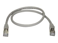 StarTech.com 0.50 m CAT6a Ethernet Cable - 10 Gigabit Category 6a Shielded Snagless RJ45 100W PoE Patch Cord - 10GbE Grey UL/TIA Certified - patch-kabel - 50 cm - grå 6ASPAT50CMGR