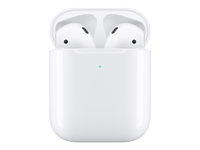 Apple AirPods with Wireless Charging Case - 2nd Generation - riktiga trådlösa hörlurar med mikrofon MRXJ2ZM/A